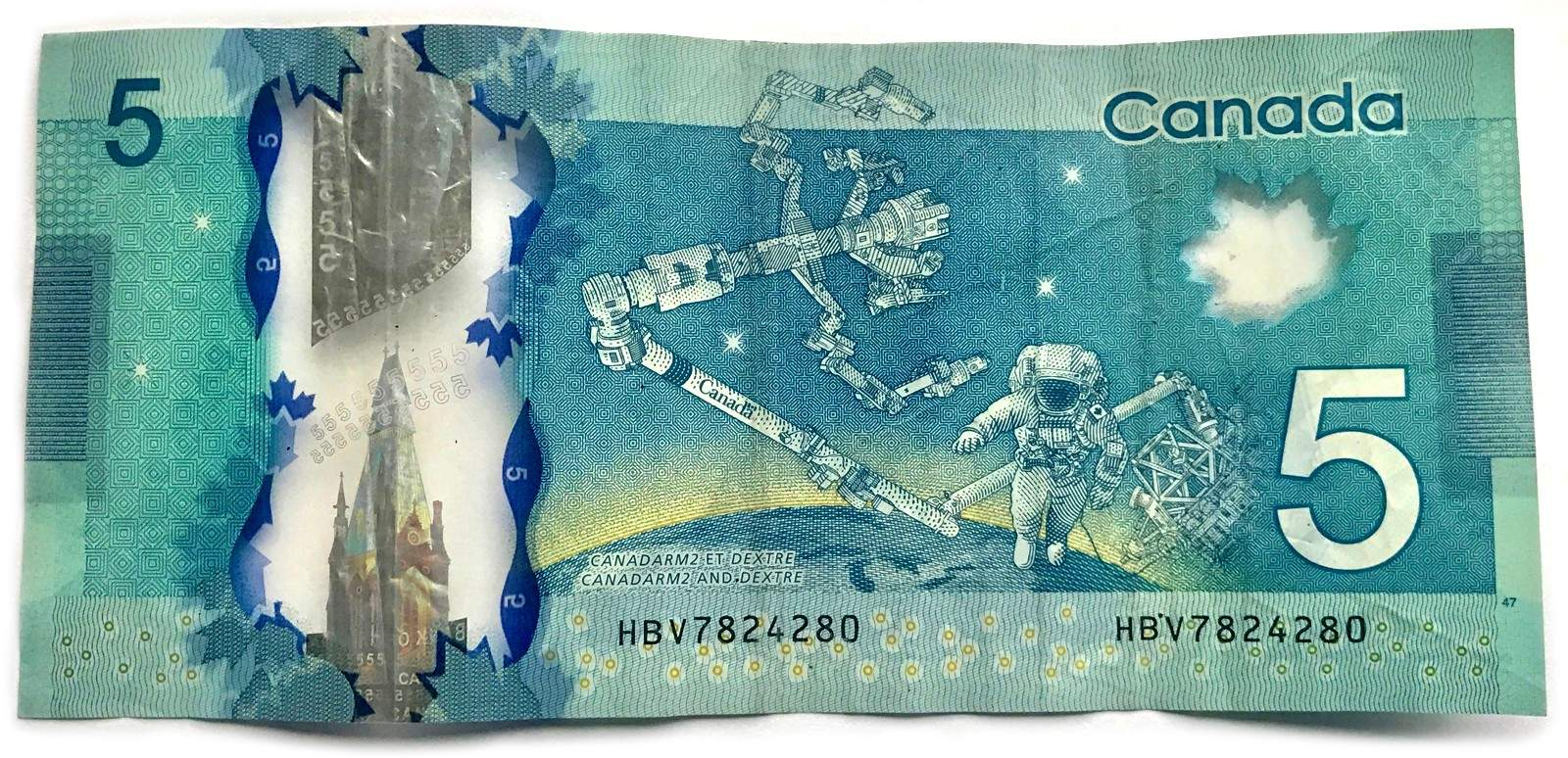 Money the canada guide on the reverse it depicts the canadarm a robotic arm that was designed in canada and used on nasa missions between 1981 and 2011 biocorpaavc